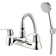 GoodHome Blyth Chrome plated Bath shower mixer tap