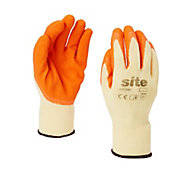Site Latex & polycotton blend Gloves, X Large