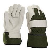 Verve Green & white Gardening gloves, Large