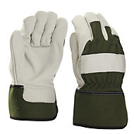 Verve Green & white Gardening gloves, Large