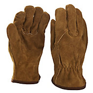 Verve Leather Brown Non safety gloves, Medium