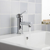 GoodHome Lazu 1 lever Chrome-plated Contemporary Basin Mono mixer Tap