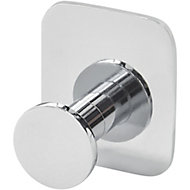 GoodHome Koros Chrome-plated Steel Hook (H)40mm