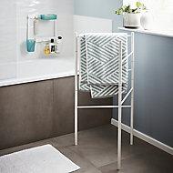 GoodHome Koros Freestanding White Towel rail (W)470mm