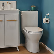 GoodHome Koros White Wall-mounted Toilet roll holder (W)153mm