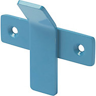 GoodHome Amantea Blue Stainless steel Hook (H)67mm