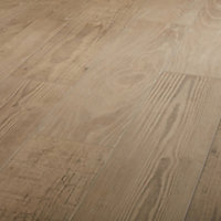 Pine wood Natural Matt Wood effect Porcelain Floor tile, Pack of 8, (L)800mm (W)200mm