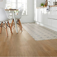 Woodproject Natural Matt Wood effect Porcelain Floor tile, Pack of 4, (L)1200mm (W)233mm