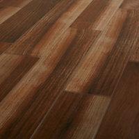 High gloss Walnut Gloss Wood effect Ceramic Floor tile, Pack of 7, (L)900mm (W)150mm