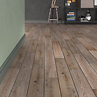 Vintage oak Natural Matt Wood effect Porcelain Floor tile, Pack of 7, (L)900mm (W)150mm