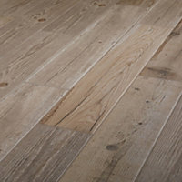 Vintage oak Natural Matt Wood effect Porcelain Floor tile, Pack of 7, (L)900mm (W)150mm