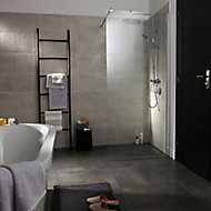 Metal ID Light grey Matt Concrete effect Porcelain Floor tile, Pack of 6, (L)600mm (W)300mm