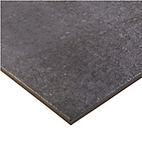 Metal ID Anthracite Matt Concrete effect Porcelain Floor tile, Pack of 6, (L)600mm (W)300mm
