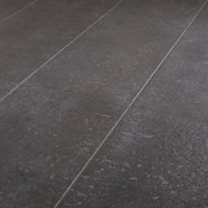 Metal ID Anthracite Matt Concrete effect Porcelain Floor tile, Pack of 6, (L)600mm (W)300mm