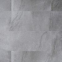 Palemon Grey Matt Stone effect Porcelain Floor tile, Pack of 6, (L)610mm (W)305mm