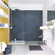 Slate Anthracite Matt Stone effect Porcelain Floor tile, Pack of 6, (L)590mm (W)290mm