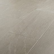 Natural Greige Satin Stone effect Porcelain Floor tile, Pack of 6, (L)600mm (W)300mm