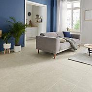 Burgundy Cream Matt Stone effect Porcelain Floor tile, Pack of 6, (L)600mm (W)300mm