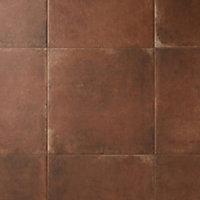 Fornace Matt Terracotta effect Porcelain Floor tile, Pack of 5, (L)494mm (W)494mm