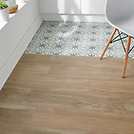 Antic rustic Natural Matt Wood effect Porcelain Floor tile, Pack of 4, (L)1200mm (W)200mm