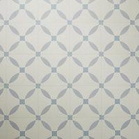 Hydrolic Blue Matt Calisson Porcelain Floor tile, Pack of 25, (L)200mm (W)200mm