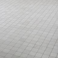 Palemon Ivory Stone effect Porcelain Mosaic tile, (L)305mm (W)300mm