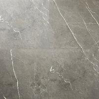 Ultimate Grey Marble effect Porcelain Floor tile, Pack of 3, (L)595mm (W)595mm
