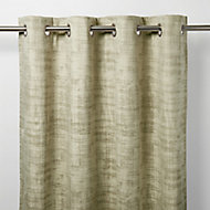 Ruvor Beige Abstract Blackout Eyelet Curtain (W)117cm (L)137cm, Single