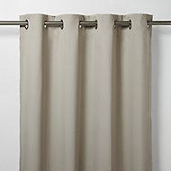 Vestris Beige Plain Blackout Eyelet Curtain (W)167cm (L)183cm, Single