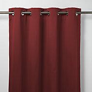 Vestris Red Plain Blackout Eyelet Curtain (W)117cm (L)137cm, Single
