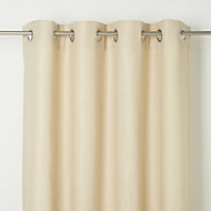 Kosti Cream Plain Unlined Eyelet Curtain (W)167cm (L)183cm, Single