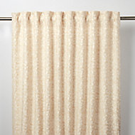 Mulgrave Beige Floral Unlined Pencil pleat Curtain (W)117cm (L)137cm, Single