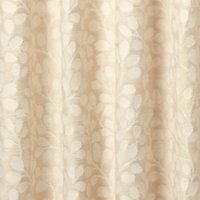 Mulgrave Beige Floral Unlined Pencil pleat Curtain (W)167cm (L)228cm, Single