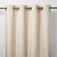 Melfi Beige Floral Unlined Eyelet Curtain (W)167cm (L)183cm, Single