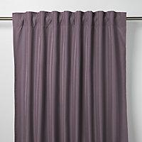 Klama Light purple Plain Unlined Pencil pleat Curtain (W)140cm (L)260cm, Single