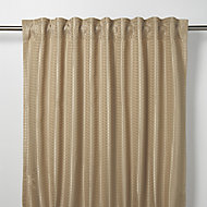 Mandlay Beige Spotted stripe Unlined Pencil pleat Curtain (W)140cm (L)260cm, Single