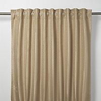 Mandlay Beige Spotted stripe Unlined Pencil pleat Curtain (W)140cm (L)260cm, Single