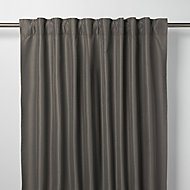 Klama Dark grey Plain Unlined Pencil pleat Curtain (W)140cm (L)260cm, Single