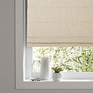 Soyo Corded Light beige Woven Unlined Roman Blind (W)120cm (L)160cm