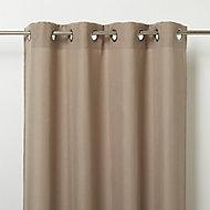 Kippens Beige plain Unlined Eyelet Voile curtain (W)140cm (L)260cm, Single