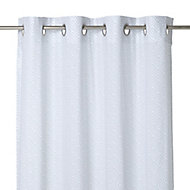Galene Blue Ethnic Unlined Eyelet Voile curtain (W)140cm (L)260cm, Single