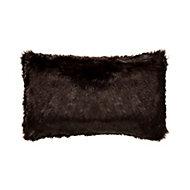 Solitaire Faux fur Brown Cushion