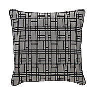 Basalt Square Black & grey Cushion