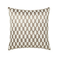 Onyx Geometric Grey & white Cushion