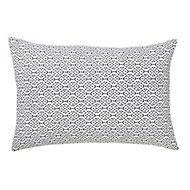 Dashes Patterned Black & white Cushion