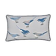 Aventurine Birds Blue & grey Cushion