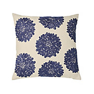 Jade Floral Blue & white Cushion