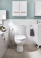 GoodHome Cavally Close-coupled Rimless Toilet with Soft close seat