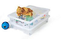 Form Kaze Medium duty Clear 50L Plastic Stackable Storage box, Pack of 2