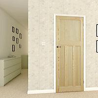 4 panel Traditional Clear pine LH & RH Internal Door, (H)1981mm (W)762mm